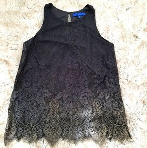 Apt 9 Gold Ombre Lace Tank Top Size Medium